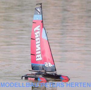 Binary Mini Katamaran Segelboot 2.4G RTR rot