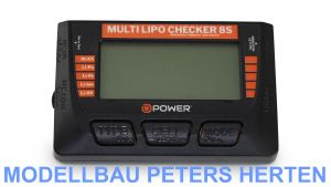 D-Power Multi Lipo Checker 8S / Balancer / Servotester / Akkutester - DPMLC8S Abb. 1