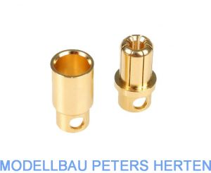 DPower Goldkontaktstecker + Buchse  8,0 mm VE4 Paar   - AM1006B abb 1