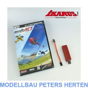 Ikarus Komplettset: aerofly RC7 ULTIMATE mit USB-Interface für Summensignal (HoTT/Jeti/Core) - 3071029 Abb. 1